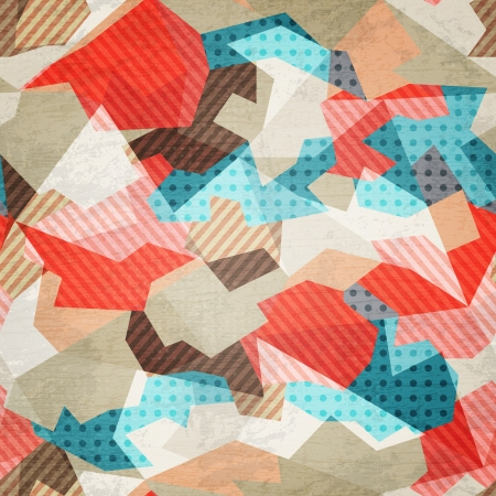 vintage fabric seamless pattern with grunge effect Stock Vector - 21505191