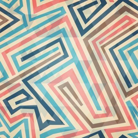 vintage lines seamless pattern Vector