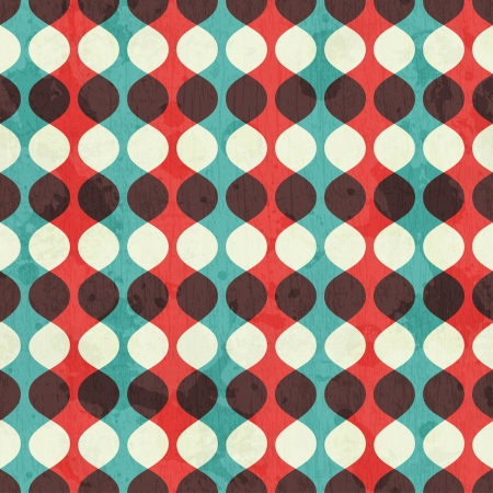 vintage seamless pattern with grunge effect Vector