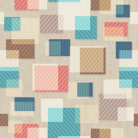 vintage square seamless pattern with grunge effect Vector