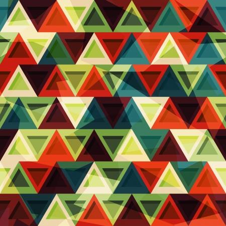 ビンテージの三角形のシームレスなパターン  イラスト・ベクター素材