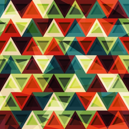 diamonds pattern: vintage triangle seamless pattern