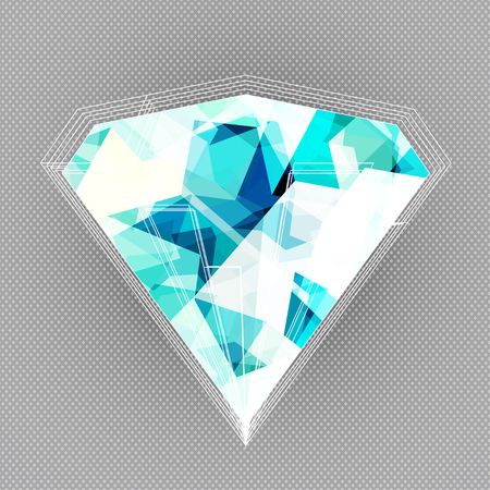blue diamond background with blue seamless texture Vector