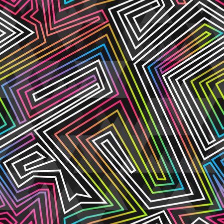 bright neon seamless pattern Vector