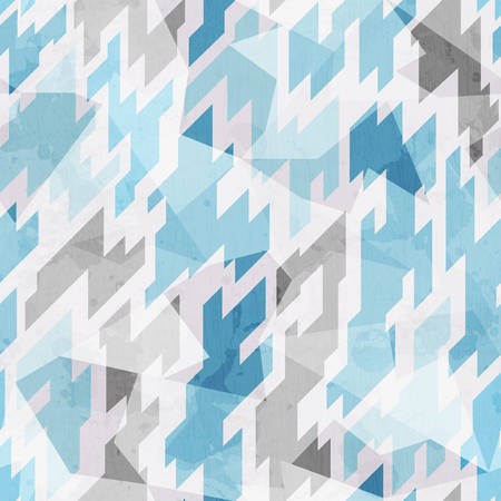 ice surface: cold color geometric seamless pattern