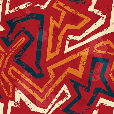 africain motif géométrique parfaite avec effet grunge Vecteurs