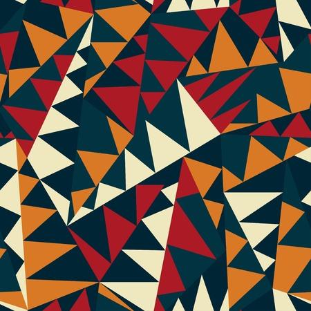 アフリカの三角形のシームレス パターン