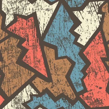 ancient geometric seamless pattern with grunge effect Фото со стока - 25988037