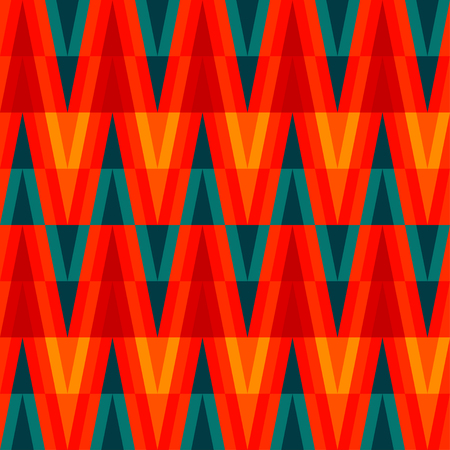 aztec bright triangle seamless pattern Vector
