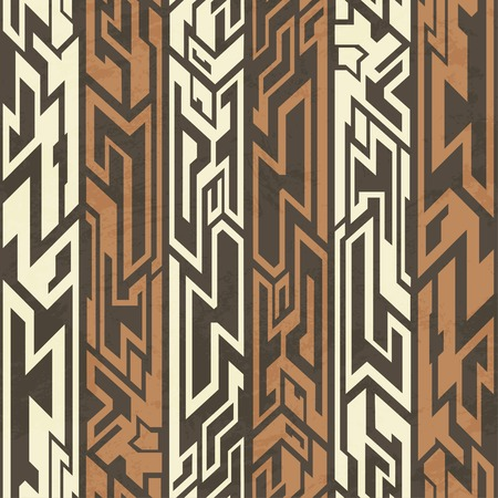 african tribe: aztec seamless pattern Illustration