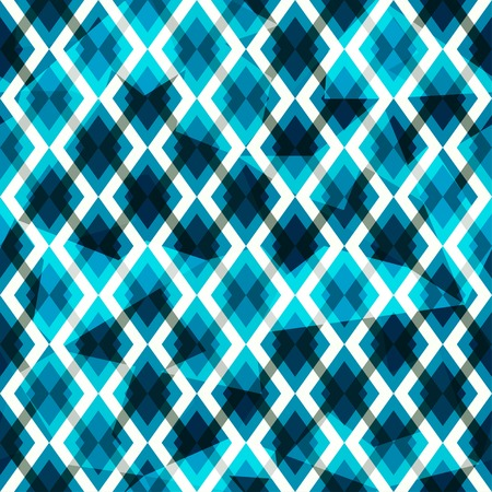 blue diamonds seamless pattern Vector