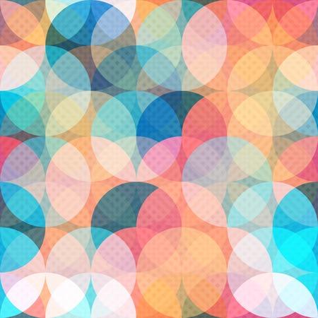 色付きの円のシームレス パターン