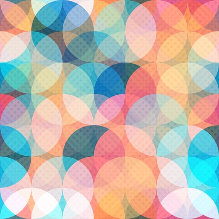 design pattern: colored circle seamless pattern