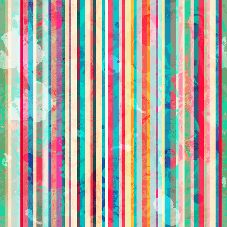 fascia: colored lines seamless pattern with blots effect