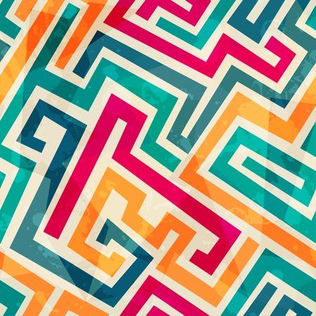 gekleurde lijnen naadloze patroon met grunge effect