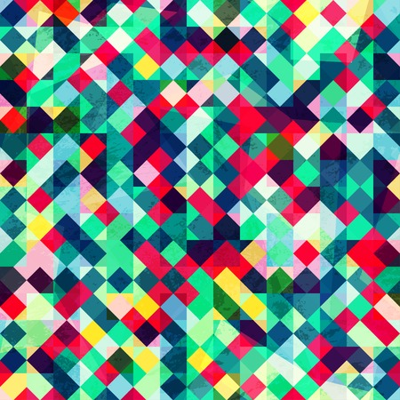 colored pixels seamless pattern Vector