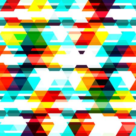 色付きの三角形のシームレスなパターン