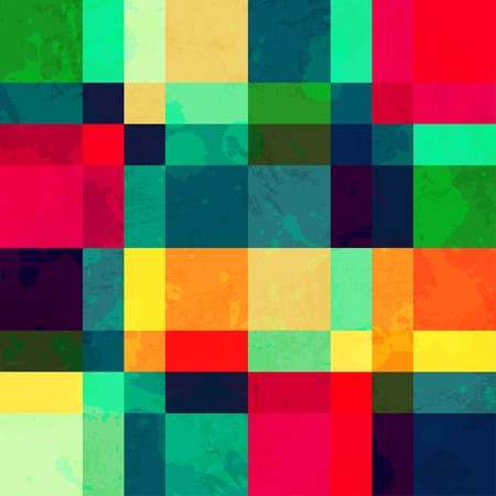 colorful square seamless pattern with blob effect