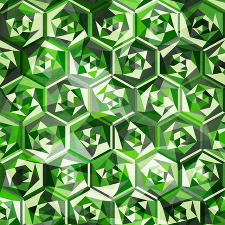 oz: emeralds seamless pattern