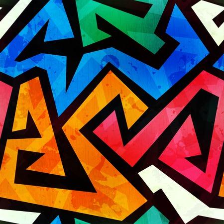 grunge gekleurde graffiti naadloze structuur