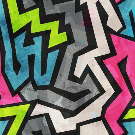 grunge graffiti seamless pattern Vector