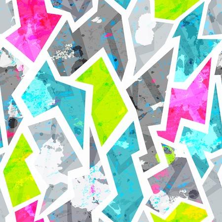 grunge seamless pattern with blots effect 向量圖像