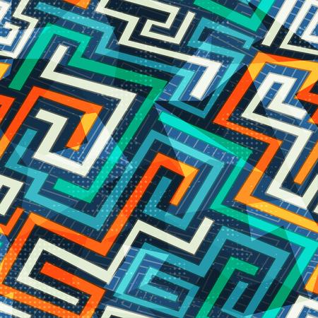 modern lines seamless pattern Vector