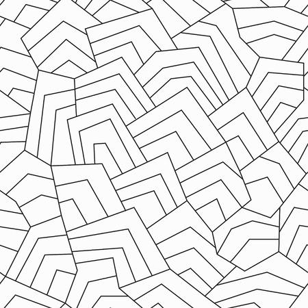 monochrome ancient seamless pattern Illustration