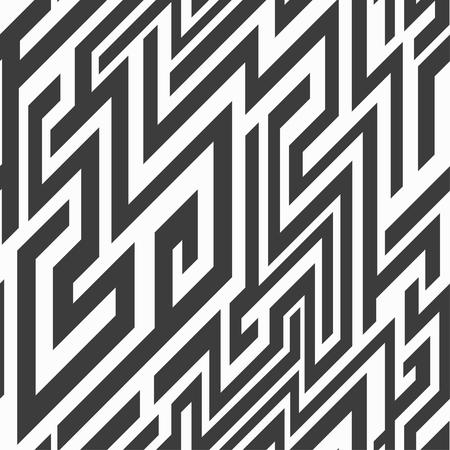 monochrome line seamless pattern Vector