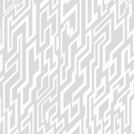 monochrome tech geometric seamless pattern Vector