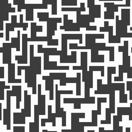monochrome tech seamless pattern Stock Vector - 25988145