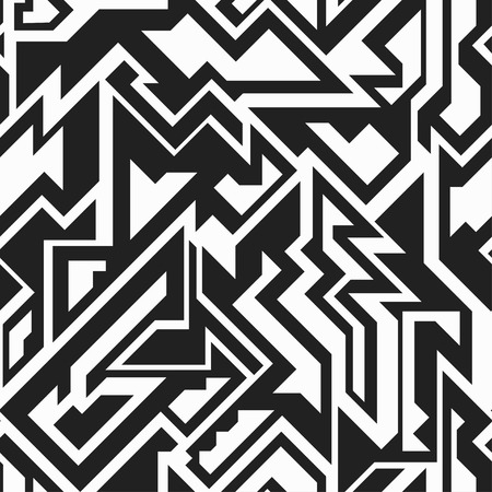 monochrome technology seamless pattern Vector