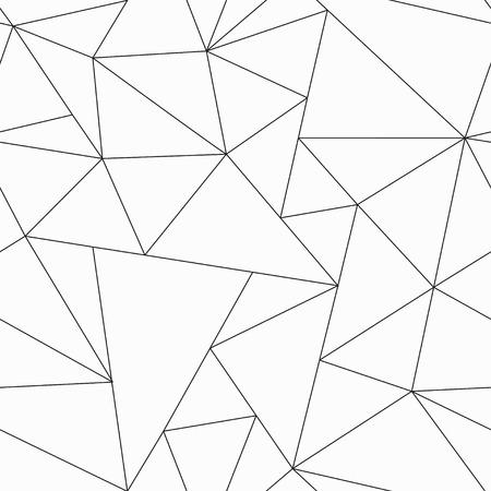 モノクロの三角形のシームレスなパターン