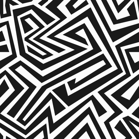 monochrome tribal maze seamless texture