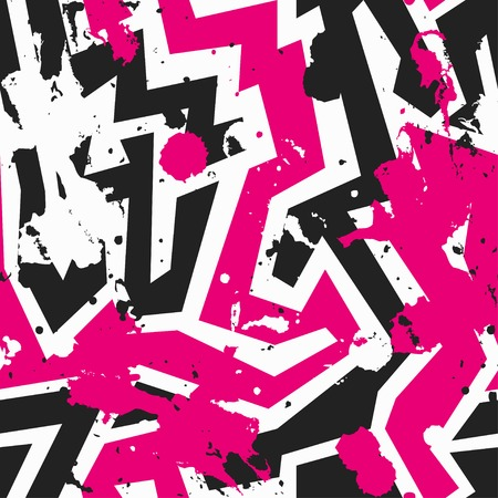 pink maze seamless pattern with blot effect