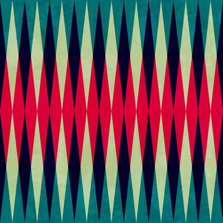 ビンテージ菱形のシームレスなパターン