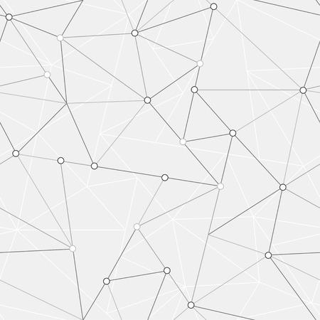 nodes: technology triangle seamless pattern Illustration