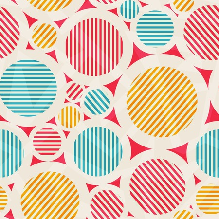 vintage colored circle seamless texture