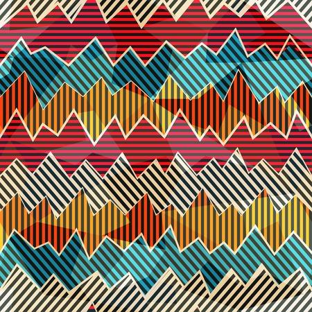 zigzag seamless pattern Çizim