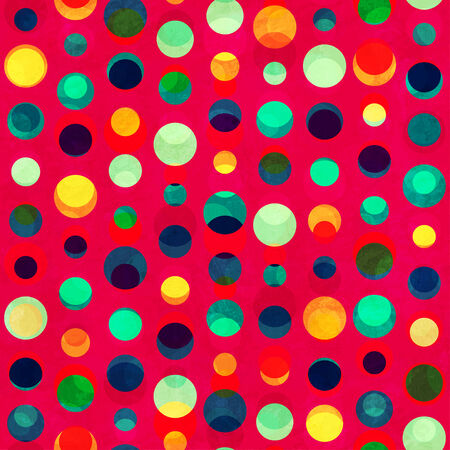 bright circle seamless pattern with grunge effect Vector