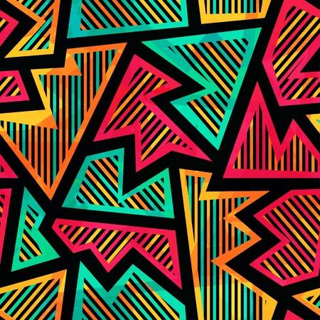 bright geometric seamless pattern Vektorové ilustrace