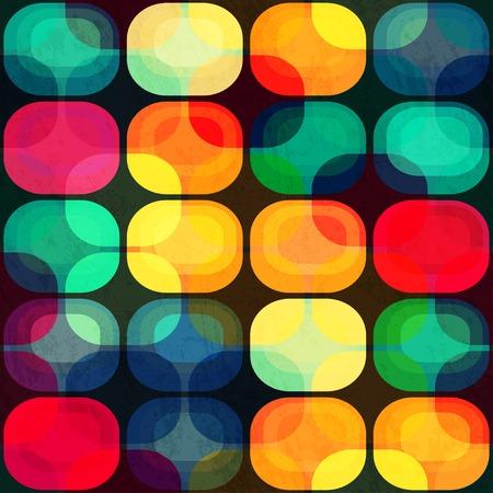 グランジ効果と色のタイルのシームレスなパターン