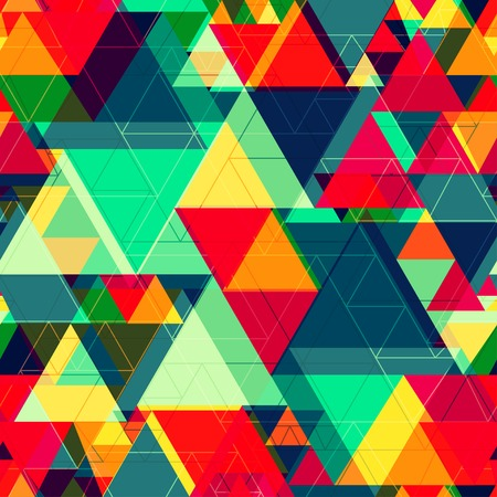 bright color triangle seamless texture Imagens - 33039119