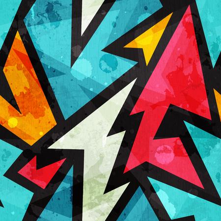 alphabet graffiti: el graffiti sin fisuras patr�n geom�trico con efecto grunge