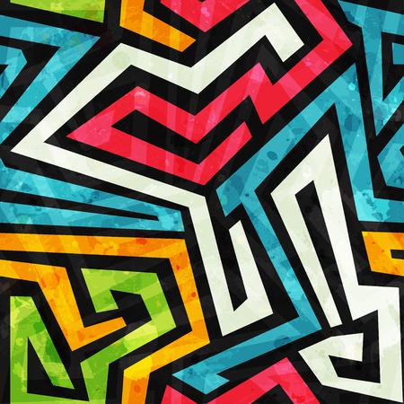 graffiti seamless pattern with grunge effect