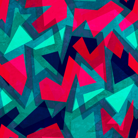 repeated: grunge geometric seamless texture