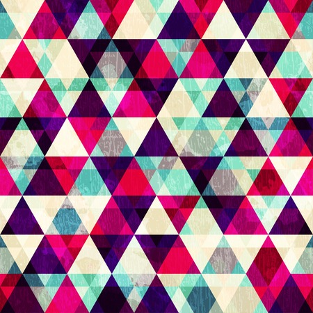 grunge red triangle seamless pattern Illustration