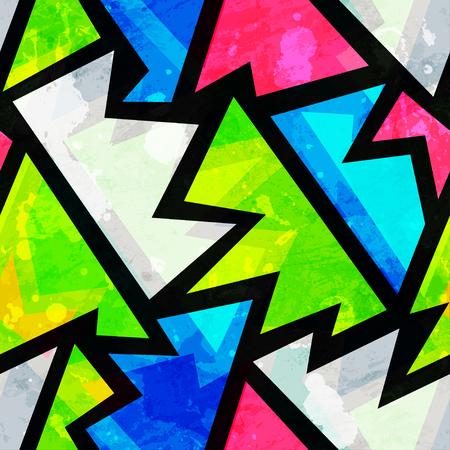 tie dye: bright grunge geometric seamless pattern