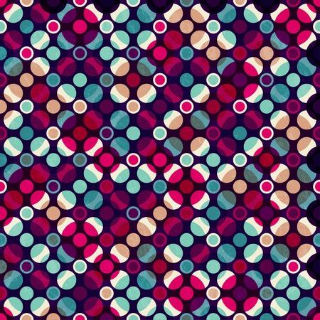 明るいモザイク円のシームレス パターン