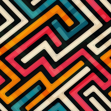 bright labyrinth seamless pattern Vector